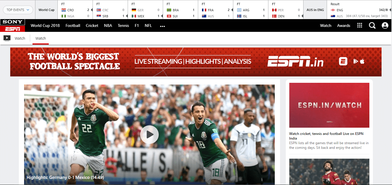 watch espn sports live streaming online