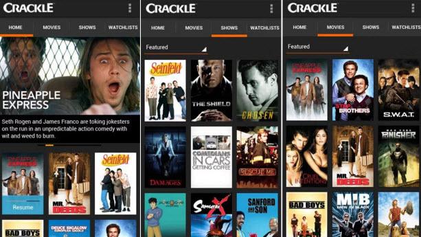 Crackle Movies App